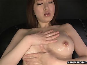 asian mind-blowing undergarments during the slimy onanism
