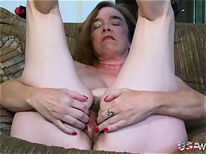 USAwives hairy grandma Pusssy pummeled With fucky-fucky fucktoy