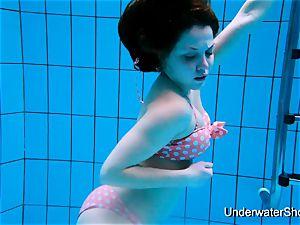 splendid damsel displays fabulous bod underwater