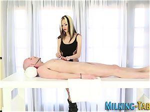 massagist eats shaft