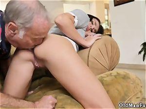 My nubile neighbor amateur riding the senior boner!