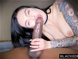 BLACKEDRAW Canadian girlfriend takes large bbc in her booty