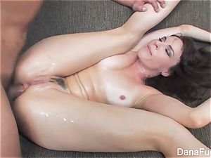Dana DeArmond gets an anal invasion smashing on the couch