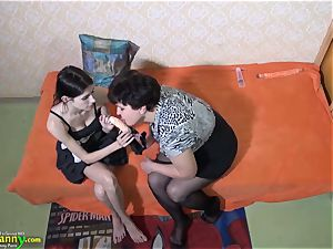 OldNannY fat Compilation of lezzie orgy plaything play