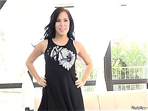 warm point of view audition of teenage hottie Megan Rain