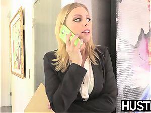 Facialized stunner Britney Amber harsh riding turgid big black cock