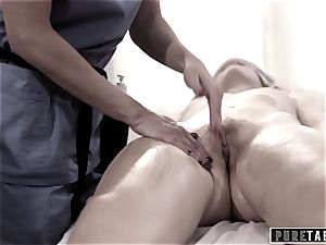 unspoiled TABOO college dame Duped 2 pummeling masseuse duo