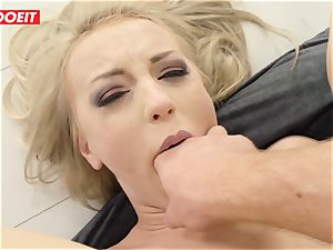 LETSDOEIT - scorching blonde backside screwed xxx by Stranger