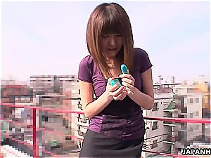 chinese cutie pie getting toy pulverized by herself