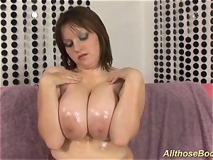bbw milf with well-lubed monster juggs