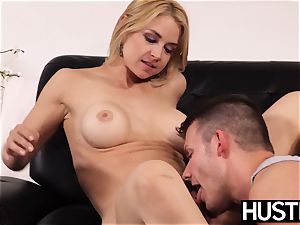 seductive milf Sarah Vandella penetrated with man-meat after deep throat