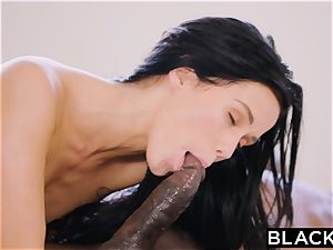 BLACKED super-steamy Megan Rain Gets DP'd By Her Sugar parent and His acquaintance