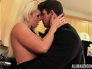 Alura Jenson gets torn up by big muscle man Zeb Atlas