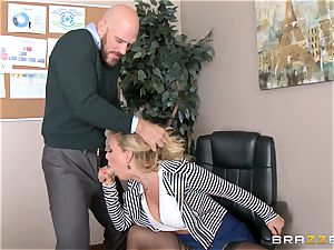 milf boss Cherie Deville gets shafted by a yam-sized dicked worker