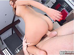 All inward Aylin loves filthy internal cumshot activity