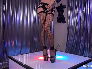 Stripper Sarah takes a ample trouser snake from a client