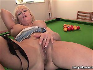 Mature british towheaded jacks on a pool table