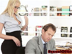 sweetie assistant takes her manager' man sausage for a ride