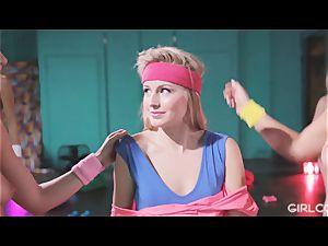 GIRLCORE Aerobics Class Leads to girly-girl unloading romp
