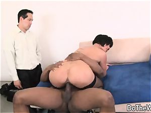 milf drilled by a ebony dude in front of her hubby