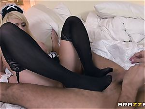 Bad maid Kagney Linn Karter is taught a lesson