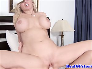 immense titted platinum-blonde housewife lovinТ spunk-pump