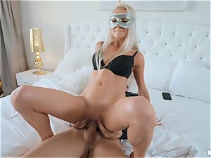 stunners Marley Brinx and Molly Mae masked plowing and sucking