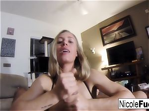 Home flick of Nicole Aniston giving a point of view blow Job