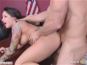 horny schoolgirl gets smashed by her educator Johnny Sins