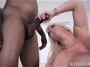 interracial cooch inserted Alura Jenson with gigantic ebony pipe
