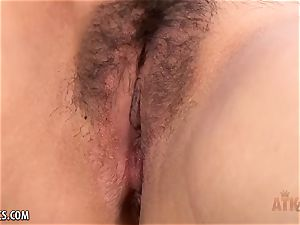 fur covered japanese opens up before her opens up her vulva