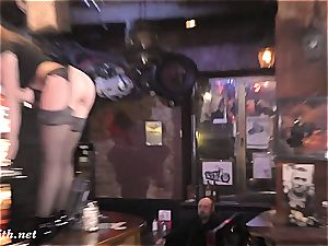 Jeny Smith drives a Moscow bar naughty dancing naked to the music