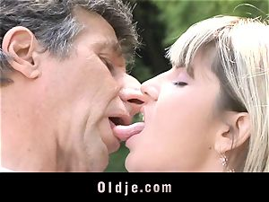Gina Gerson gets buttfuck from an old man