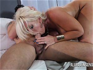 hefty funbag cougar Alura Jenson enjoys smashing junior men