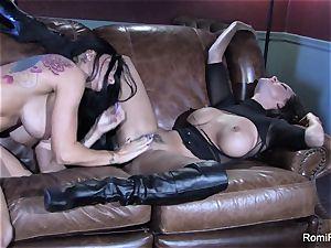 Romi Rain steaming g/g fucky-fucky with Abigail Mac