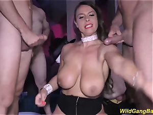 buxom cougar magnificent Susi kinky ass fucking gang-fucked