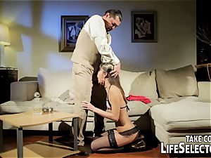 insane fuckdoll Doris Ivy is being dominated by a perver