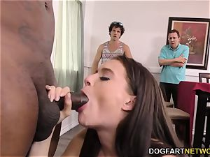 cheating bro and parent witness Lana Rhoades takes big black cock