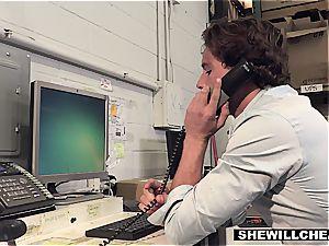 SheWillCheat - chesty milf chief plumbs fresh worker