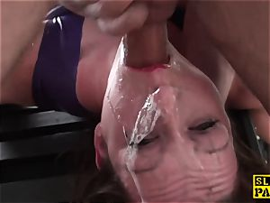 brit domina dominated and made to deep-throat