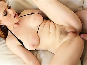 redhead Penny Pax porks with her furry cooch
