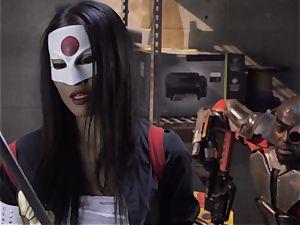 Suicide squad parody Sn four Ada Akira railing black chisel