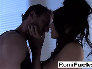 marvelous taunt followed by rigid hookup with Romi Rain