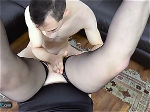 AgedLovE Lacey Starr pounding Poolboy gonzo