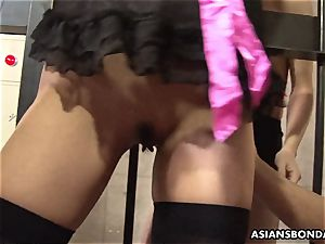 corded japanese lady got her cootchie toyed by kinky deviants