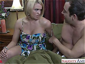 big-titted blonde Krissy Lynn drilling