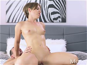 mommy intimate creampie for black-haired milf