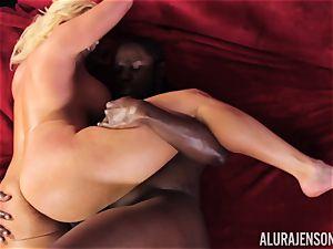 wild Alura Jenson black dick deep-throating bombshell