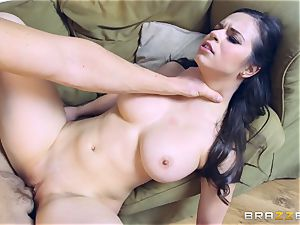 sexy brown-haired Peta Jensen filled in her yummy coochie
