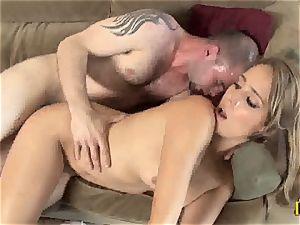 inviting Ella Milano gets her wet labia boned